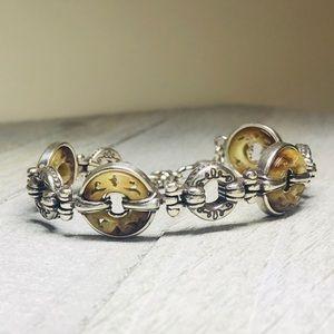 Brighton Silver Tone Shell Bracelet